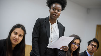 Students in Bristol Law Schools courtrooms