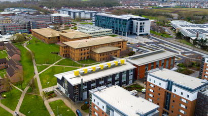 Aerial view of UWE Bristol's Frenchay campus