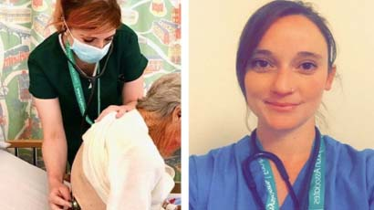 Two physician graduates working for the NHS
