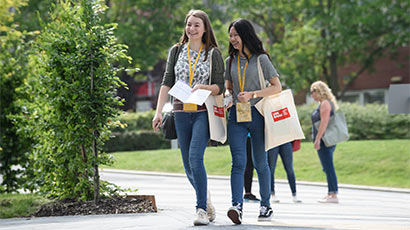 Two students at a UWE Bristol Open Day