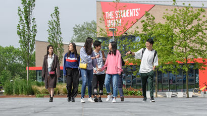A group of international students on Frenchay campus