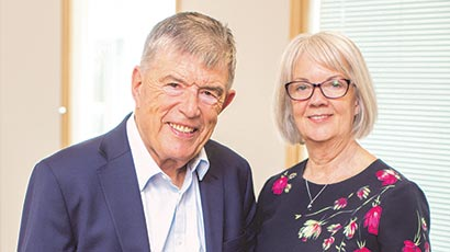Doug Perkins, Chair and Founder and Dame Mary Perkins, Co-founder, Specsavers,  BDAS Autumn 2020,
