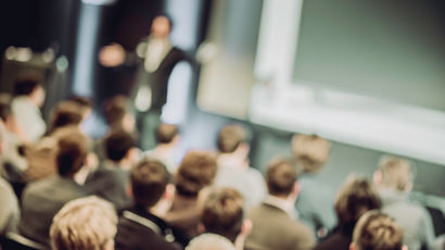 blurred image of a business event
