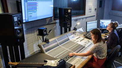 Music students making the most of the great facilities at UWE Bristol