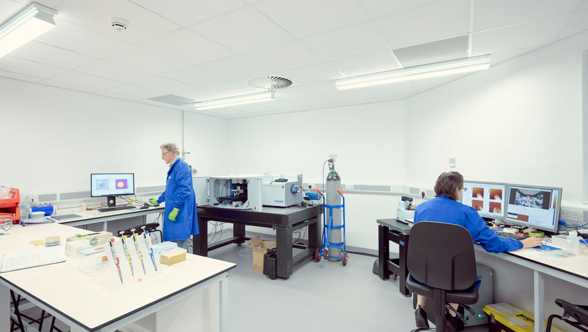 Researchers at the Health Tech Hub facility on Frenchay Campus.