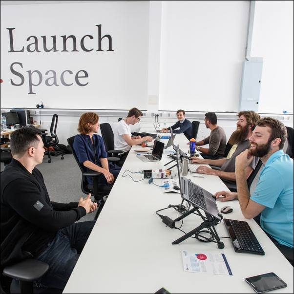 graduates using Launch Space