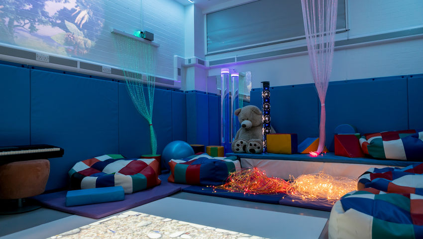 The Skills Simulation Suite sensory room on Glenside Campus.