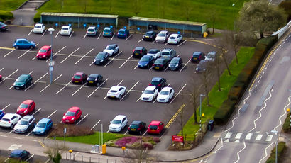 Staff parking area on Frenchay campus