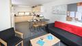 Kitchen and living area in the Student Village on Frenchay Campus