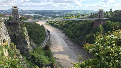 Clifton suspension bridge and the River Avon