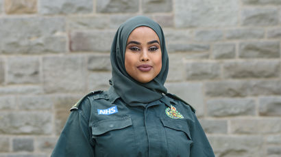 A paramedic student in their uniform
