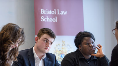 Students at Bristol Law School