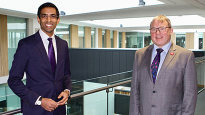 Professor Steve West and Skilled's Chief Executive Rajay Naik.