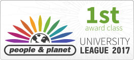 People and planet 1st class award logo