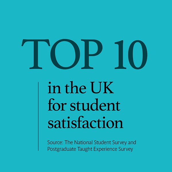 Top 10 for student satisfaction